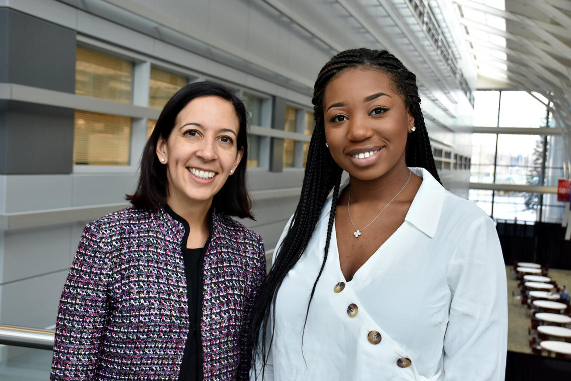 Dr. Sofia Ahmed, MD and her mentee Cindy Kalenga