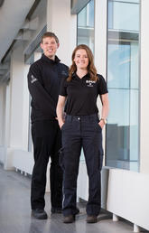 Erik Fraunberger and Claire Hinse of the Student Medical Response team.