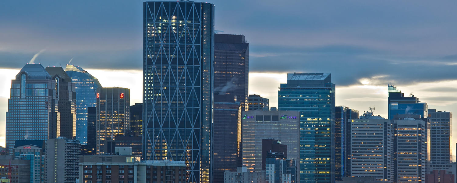 The beautiful Calgary skyline.