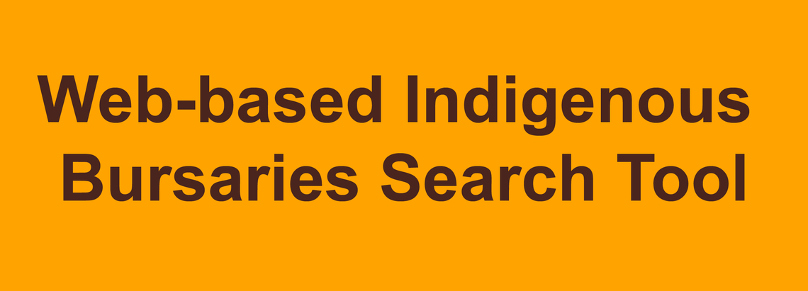 Web-based Indigenous Bursaries Search Tool