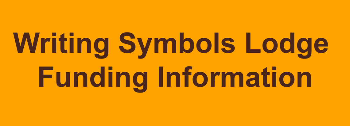 Writing Symbols Lodge Funding Information