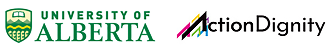 University of Alberta and Action Dignity logos