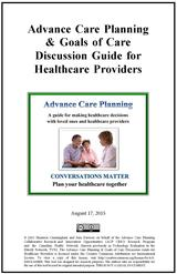 Advance Care Planning & Goals of Care Discussion Guide for Healthcare Providers image
