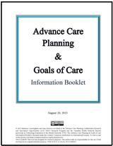 Advance Care Planning & Goals of Care Information Booklet image