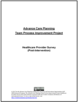 Healthcare Provider Survey (Post-Intervention) image