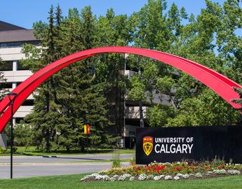 UCalgary Entrance Sign